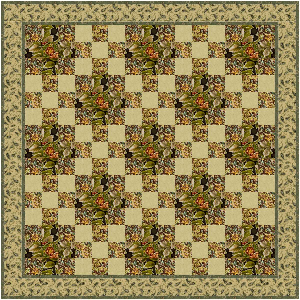 9 Patch with and without Sashing 1, 2 and 3 Virtual Quilter